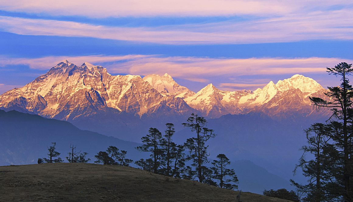 Scenic view of Mt. Gaurishanker in Nepal